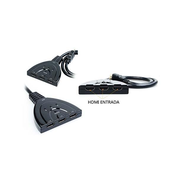 Switch Conmutador 3X1 Automático HDMI L-LINK