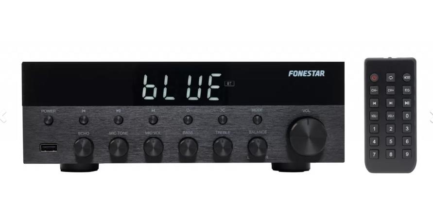 Amplificador Estéreo HI-FI 15W con USB/FM/MP3/Bluetooth