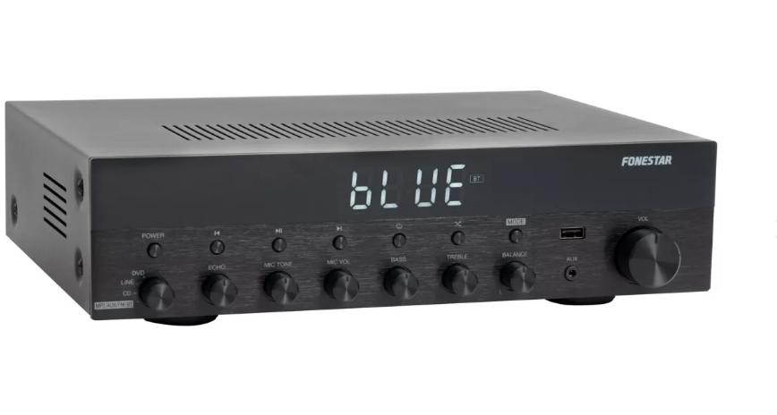 Amplificador Estéreo HI-FI 60W con USB/FM/MP3/Bluetooth